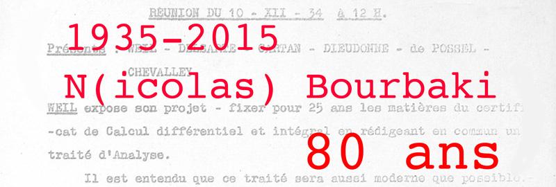 80 ans Bourbaki
